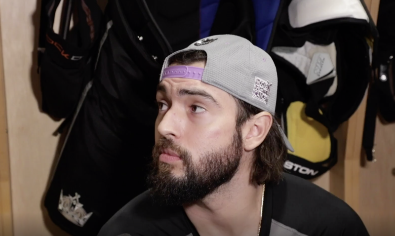 Drew Doughty is not impressed with certain factions of the media right now. (Getty)