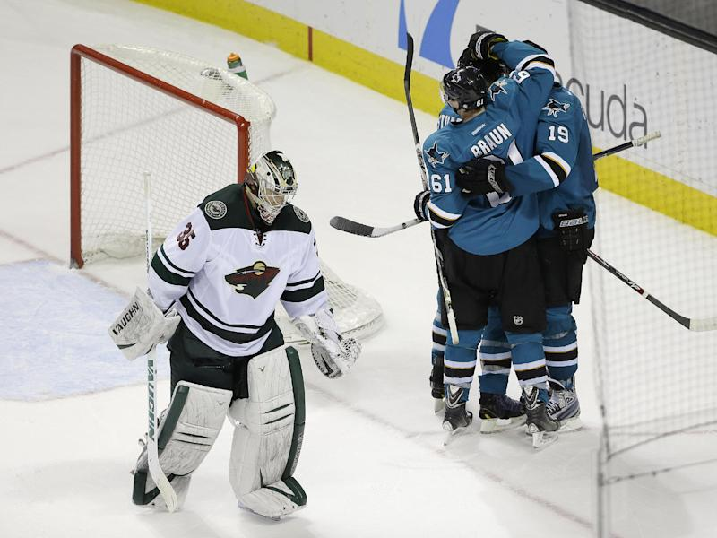 Sharks beat Wild 3-2 in OT for 6th straight