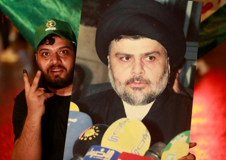 The political movement of Iraq's influential Shiite cleric Moqtada Sadr retained the biggest share of seats in the country's parliament, after elections with a record low voter turnout (AFP/AHMAD AL-RUBAYE)