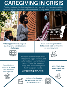 """Allsup joins Caregiver Action Network in observing the theme of """"Caregiving In Crisis"""" during National Family Caregivers Month in November 2020."""