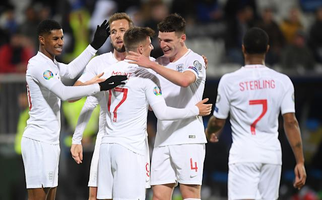 Mason Mount of England celebrates (Credit: Getty Images)