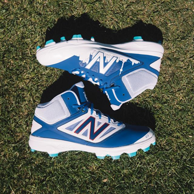 These Toronto-inspired cleats feature the city's skyline. (New Balance)