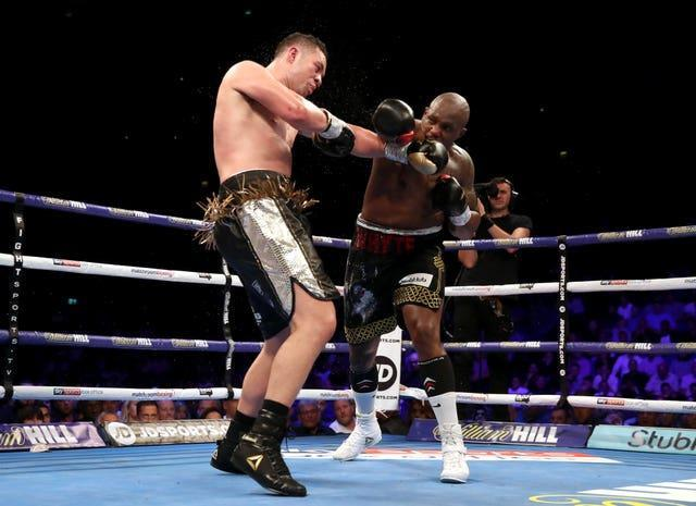 Dillian Whyte, right, defeated Joseph Parker in July 2018 (Nick Potts/PA)