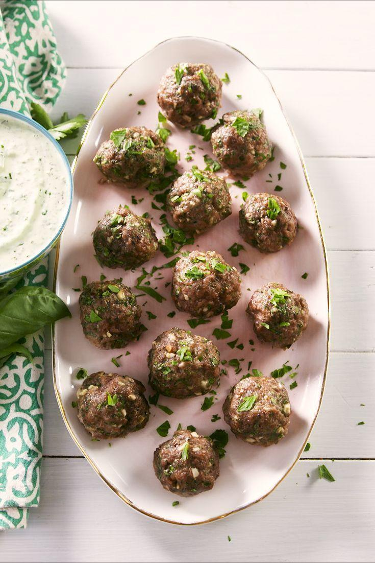 """<p>Lamb meatballs aren't exactly the <a href=""""https://www.delish.com/uk/cooking/recipes/a28868982/best-spaghetti-and-meatballs-recipe/"""" rel=""""nofollow noopener"""" target=""""_blank"""" data-ylk=""""slk:spaghetti and meatballs"""" class=""""link rapid-noclick-resp"""">spaghetti and meatballs</a> type, they are so much more. These spiced, herby meatballs have Mediterranean vibes and with an addicting green goddess sauce, we couldn't stop eating them. They'll soon be a new favourite. </p><p>Get the <a href=""""https://www.delish.com/uk/cooking/recipes/a32977478/lamb-meatballs-recipe/"""" rel=""""nofollow noopener"""" target=""""_blank"""" data-ylk=""""slk:Lamb Meatballs"""" class=""""link rapid-noclick-resp"""">Lamb Meatballs</a> recipe.</p>"""