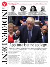 The Independent focused on MPs' return to Parliament, describing how Boris Johnson was handed a 'hero's welcome' by his own MPs.