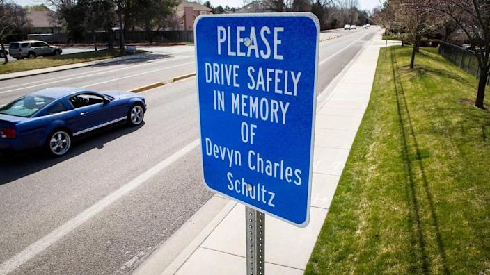 ACHD erected a permanent sign encouraging motorists to drive safely in memory of Devyn Schultz. The sign was later taken down, reinstalled and removed a second time over complaints that it glossed over Schultz's drunk driving, which caused the crash that killed him and a 15-year-old girl.