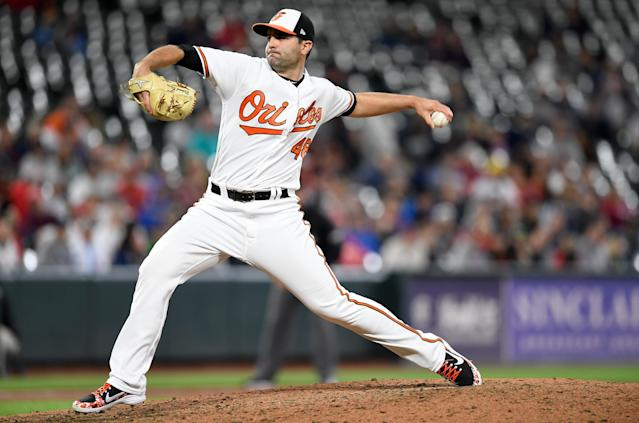 Richard Bleier is the latest Baltimore Oriole to excel out of the bullpen (G Fiume/Getty Images)