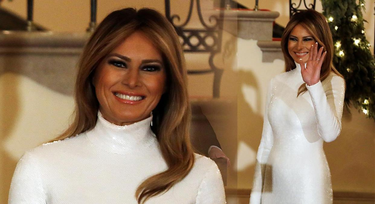 Melania Trump went back to brunette over the weekend. [Photo: Getty]
