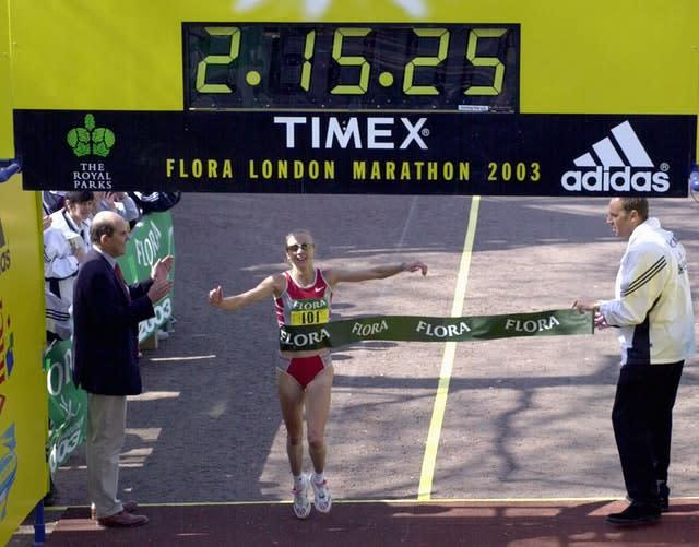 Paula Radcliffe held the women's record until Sunday (Rebecca Naden/PA)