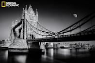 "After a long absence from black-and-white photography because of the difficulty of this type of photography and its impact on myself, now I go back to the most beautiful category of photography, in my opinion, through this snapshot of London Tower Bridge. (Photo and caption Courtesy Mostafa Hamad / National Geographic Your Shot) <br> <br> <a href=""http://ngm.nationalgeographic.com/your-shot/weekly-wrapper"" rel=""nofollow noopener"" target=""_blank"" data-ylk=""slk:Click here"" class=""link rapid-noclick-resp"">Click here</a> for more photos from National Geographic Your Shot."