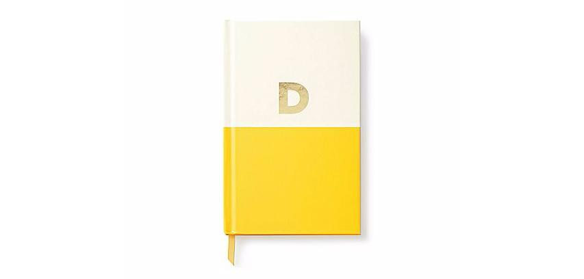 <p>Personalisation is BIG this year. But if you don't think the lady in your life will fancy a monogrammed bag or wallet, how about one of these fab Kate Spade notebooks? </p>