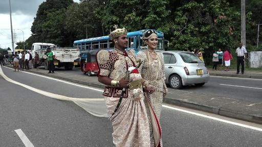 Sri Lanka probes 'longest saree' wedding for using kids