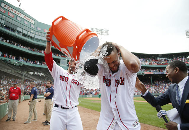 The Red Sox look strong as the second half is about to begin. (AP Photo)