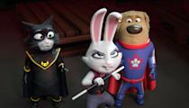 """<p><strong>Hulu's Description:</strong> """"When genius cat, Felix, and loyal canine, Buddy, set out to find Buddy's lost owner, they discover not only the power of friendship but their inner superpowers along the way.""""</p> <p><span>Stream <strong>StarDog and TurboCat</strong> on Hulu!</span></p>"""