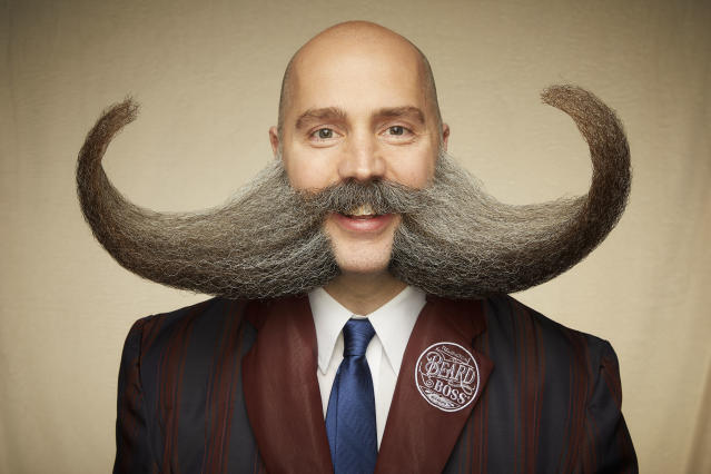 This extreme moustache-beard-sideburns combination defies gravity. [Photo: Caters]