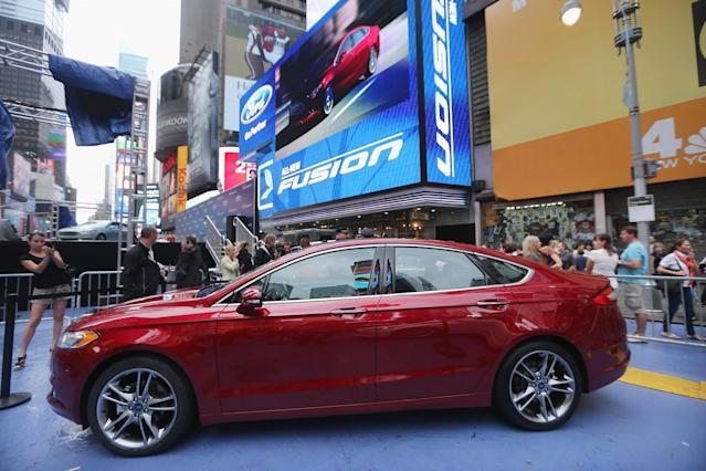 <p>Midsize Sedan, 2nd Place: 2013-2016 Ford Fusion (Getty) </p>