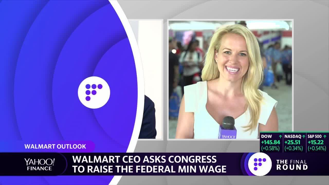 Senator Bernie Sanders calls for wage hikes at Walmart
