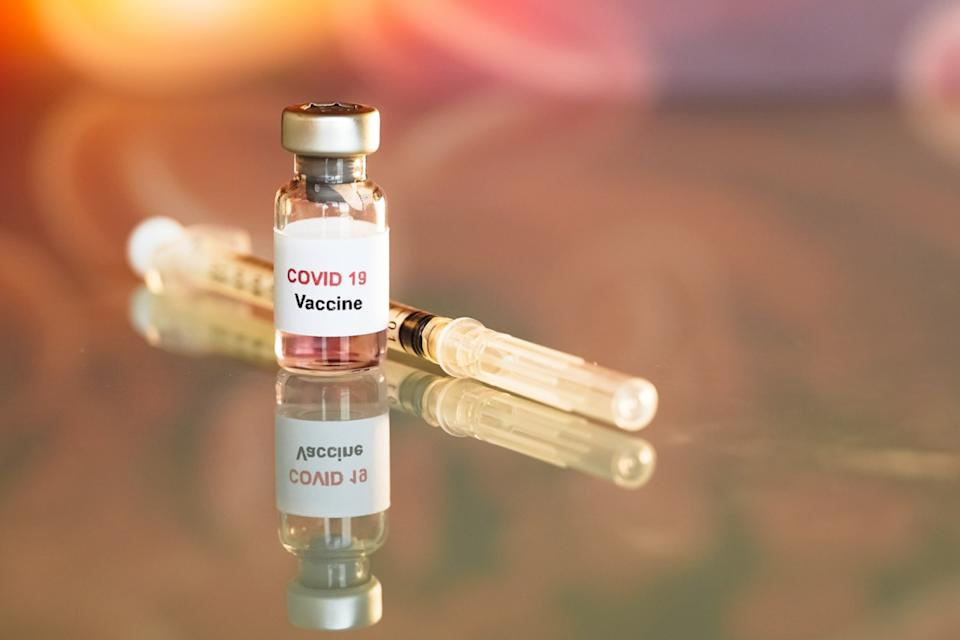 Vaccine and syringe injection It use for prevention, immunization and treatment from COVID-19
