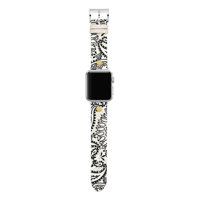 "This paisley watch is a great stocking stuffer for friends who own an Apple Watch—and love a colorful moment. $95, Nordstrom. <a href=""https://www.nordstrom.com/s/tory-burch-paisley-print-leather-apple-watch-strap/5618740"" rel=""nofollow noopener"" target=""_blank"" data-ylk=""slk:Get it now!"" class=""link rapid-noclick-resp"">Get it now!</a>"