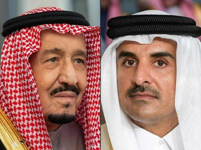 Saudi King Salman's invitation to the Qatari emir had raised hopes of a thaw in the bitter two-year-old rift between their governments (AFP Photo/Bandar AL-JALOUD, FETHI BELAID)