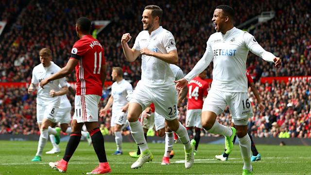 Manchester United suffered a big blow to their top-four hopes as Swansea City held them to yet another draw at Old Trafford.