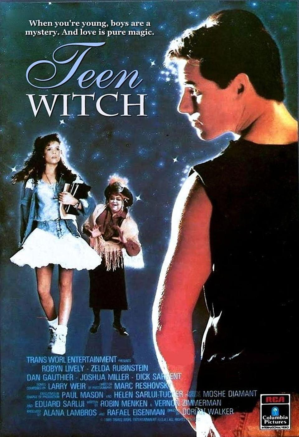 """<p>Travel back in time to 1989 when the bangs were tall and <em>Sabrina the Teen Witch</em> was barely yet a glimmer. <em>Teen Witch</em> tells the story of a nerdy high schooler who learns from a psychic that she's got magical powers set to begin working on her 16th birthday. And it turns out to be true.</p><p><a class=""""link rapid-noclick-resp"""" href=""""https://www.amazon.com/Teen-Witch-Robyn-Lively/dp/B07P5KM61W?tag=syn-yahoo-20&ascsubtag=%5Bartid%7C10070.g.37360837%5Bsrc%7Cyahoo-us"""" rel=""""nofollow noopener"""" target=""""_blank"""" data-ylk=""""slk:WATCH NOW"""">WATCH NOW</a></p>"""