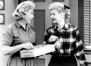 """<p>Every day my sister and I would watch <em>I Love Lucy</em> and I always cringed at Lucy's antics. I would say to Amy, """"I hope that Ethel can stop Lucy from doing something stupid today."""" And Ethel never could. Yet they were still friends, no matter what crazy stuff they did. Or, really, what crazy stuff Lucy made Ethel do with her. –Susan Kittenplan <br>(Credit: Everett Collection)</p>"""
