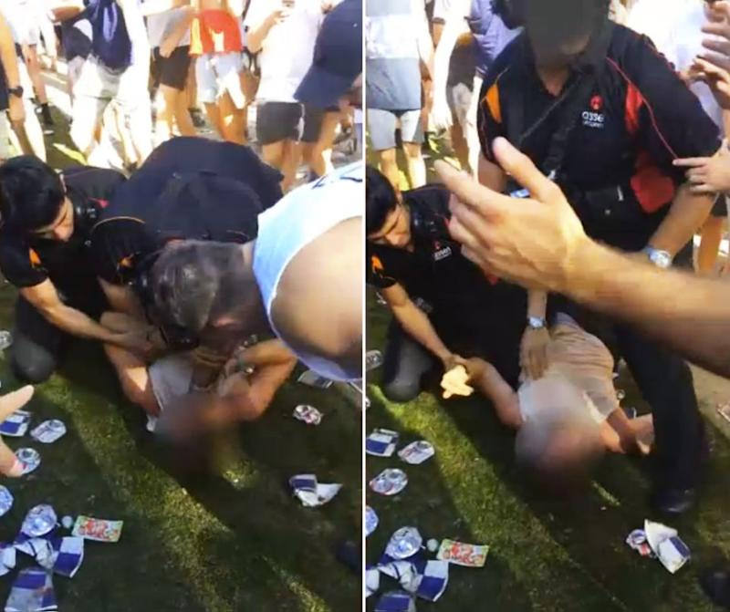Bystanders tried to intervene and were met with profanities. Source: Supplied