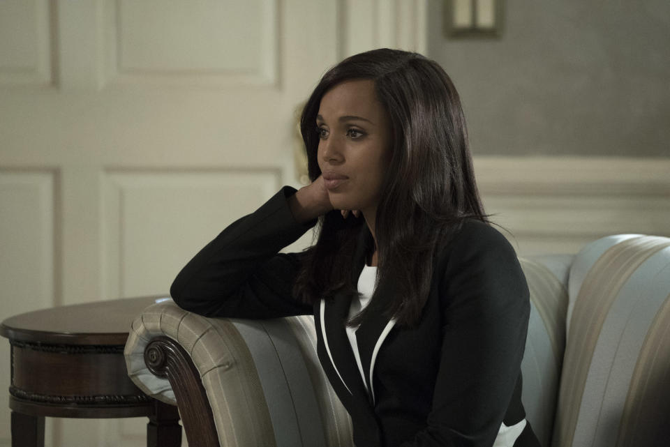 """Rhimes is the mastermind behind such hit primetime dramas as """"Scandal,"""" starring Kerry Washington, which is in its seventh and final season on ABC."""