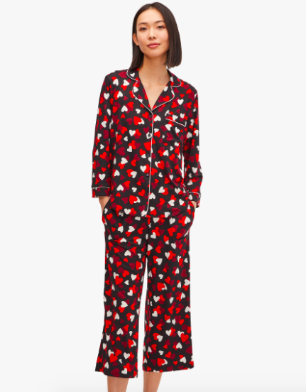 Celebration hearts crop pj set. Image via Kate Spade.