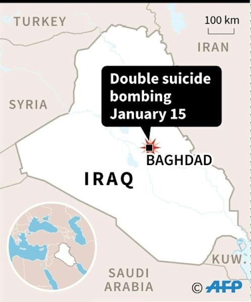 Locator for Baghdad, site of double suicide bombing Monday