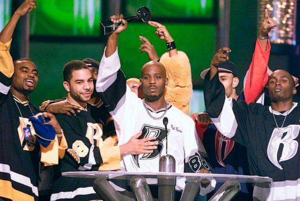 PHOTO: DMX accepts the R&B Album Artist of the Year for his second album, 'Flesh of My Flesh, Blood of My Blood,' during the 1999 Billboard Music Awards in Las Vegas, Dec. 8, 1999. (Laura Rauch/AP, FILE)