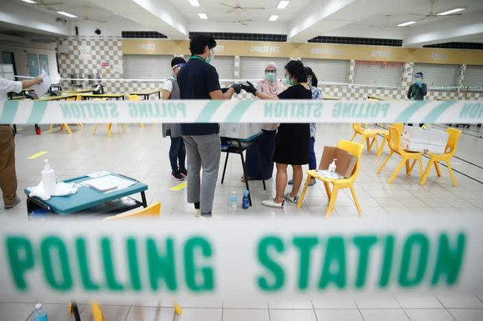 People vote in Singapore's general election amid Covid-19