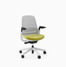 """<p><strong>Steelcase</strong></p><p>westelm.com</p><p><strong>$429.00</strong></p><p><a href=""""https://go.redirectingat.com?id=74968X1596630&url=https%3A%2F%2Fwww.westelm.com%2Fproducts%2Fsteelcase-series-1-office-chair-h6091&sref=https%3A%2F%2Fwww.cosmopolitan.com%2Flifestyle%2Fg33973696%2Fbest-ergonomic-office-chair%2F"""" rel=""""nofollow noopener"""" target=""""_blank"""" data-ylk=""""slk:Shop Now"""" class=""""link rapid-noclick-resp"""">Shop Now</a></p><p>Whether you're sitting upright or more reclined, this chair will shape to whatever position you're in. It has built-in flexors that bend with every movement, and you can also choose the style if you have carpet versus wood floors for smooth rolling. </p>"""
