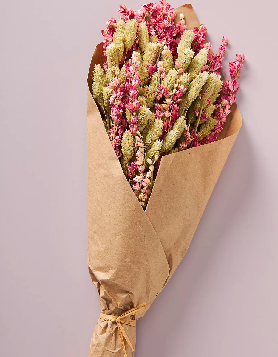 """I recently discovered that Anthro has a bunch of dried flower bouquets, so I plan on picking up a few while they're on sale this weekend. I love the vibe they give my apartment, and since they don't need water, I don't have to ever worry about them which is obviously the best part of all... —<em>T.A.</em> $36, Anthropologie. <a href=""""https://www.anthropologie.com/shop/dried-valentina-bouquet"""" rel=""""nofollow noopener"""" target=""""_blank"""" data-ylk=""""slk:Get it now!"""" class=""""link rapid-noclick-resp"""">Get it now!</a>"""