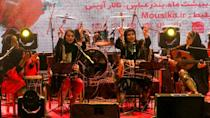 "Dingo is an Iranian band made up of four women who play ""bandari"" music whose lyrics come from ancient folkloric songs"