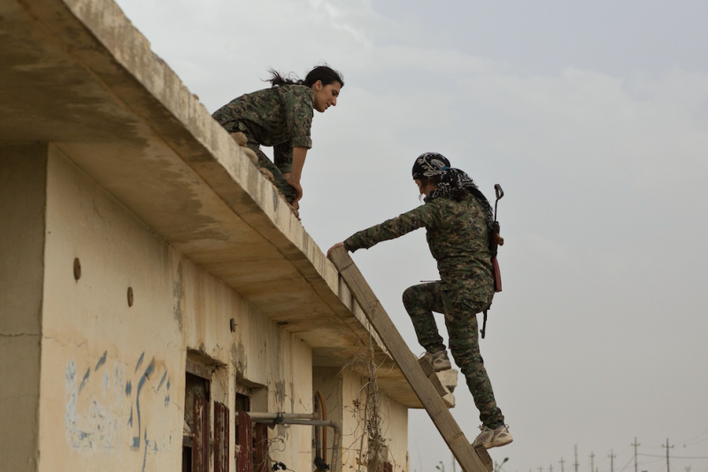 The YPJ fought first against Isis then Turkish forces (Picture: Rex)