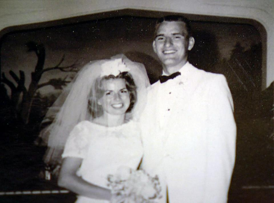 Karl Waitschies with his wife Donna on their wedding day. (KUSA)