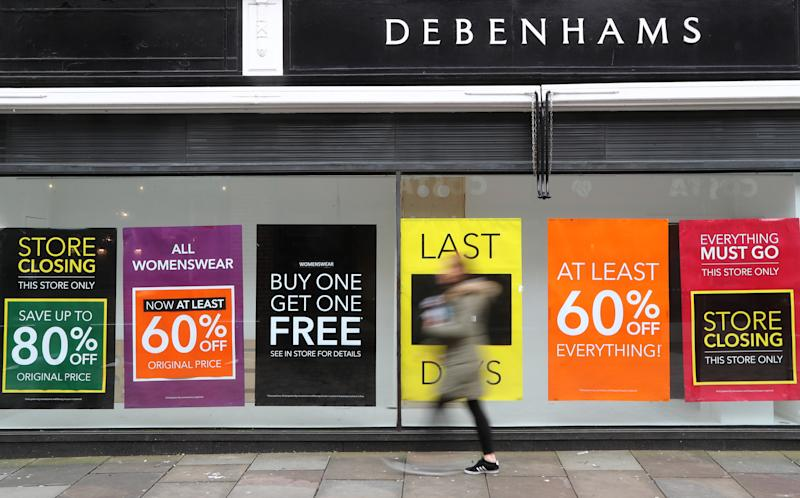 A Debenhams shop which is due for closure in Canterbury, Kent. PA Photo. Picture date: Friday January 17, 2020. Photo credit should read: Gareth Fuller/PA Wire (Photo by Gareth Fuller/PA Images via Getty Images)