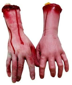 fake human body parts, scary Halloween decorations