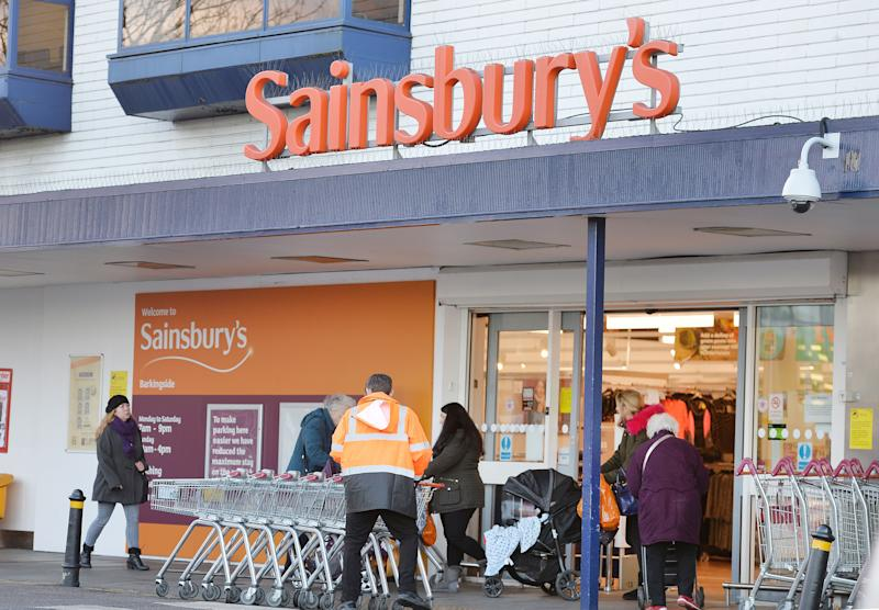 File photo dated 12/01/16 of a Sainsbury's supermarket in Barkinside Essex, as the supermarket giant is mulling a takeover approach for wholesaler Palmer and Harvey (P&H), according to reports.