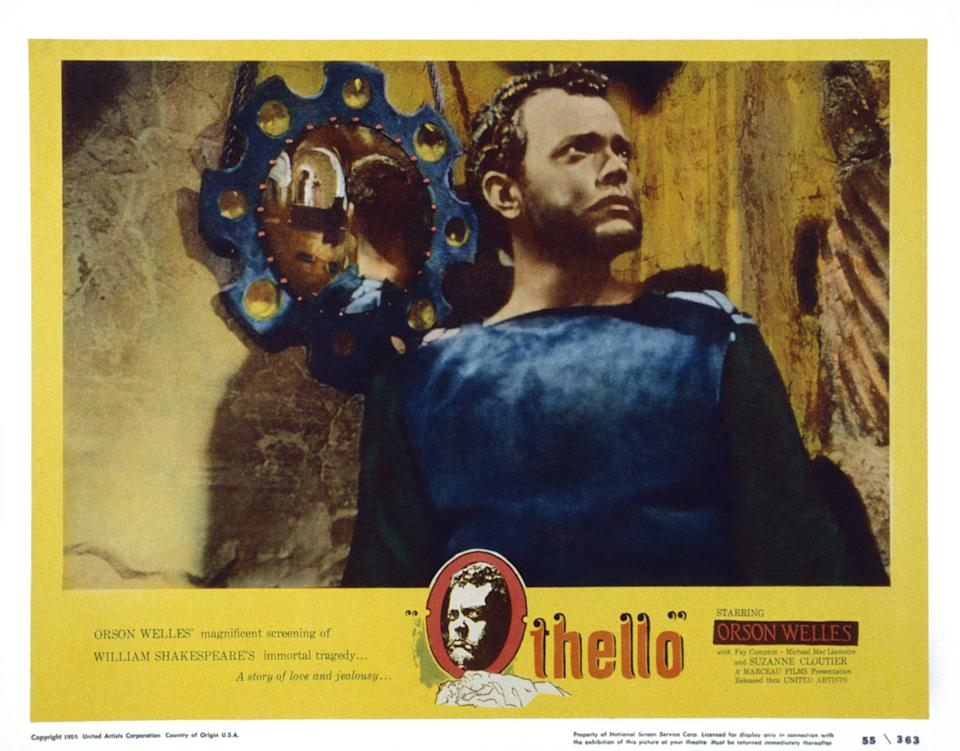 Othello, US lobbycard, Orson Welles, 1951. (Photo by LMPC via Getty Images)