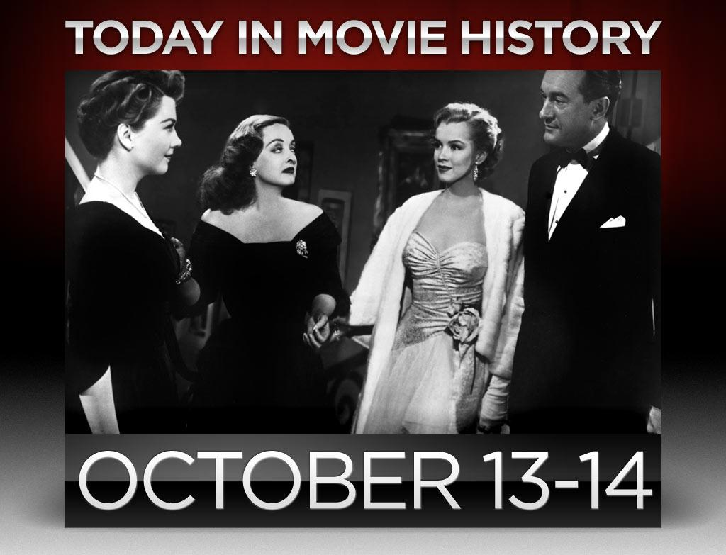 """<b>1950</b> – Joseph L. Mankiewicz's """"<a>All About Eve</a>"""" premiered in New York City on this day. Though she was the filmmaker's sixth choice -- behind Tallulah Bankhead, Claudette Colbert, Marlene Dietrich, Susan Hayward, and Gertrude Lawrence -- Bette Davis earned a best actress nomination for her portrayal of aging starlet Margo Channing, one of a record 14 Oscar nominations for the film."""