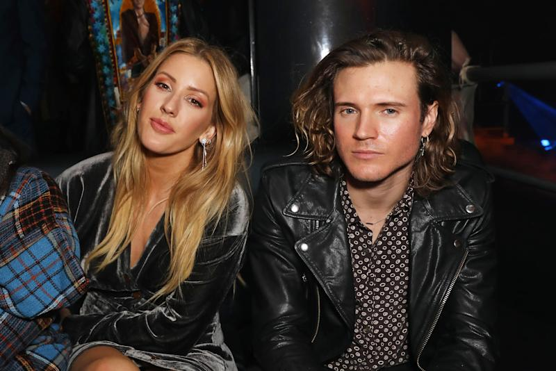 LONDON, ENGLAND - FEBRUARY 20: Ellie Goulding (L) and Dougie Poynter attend Dame Vivienne Westwood and James Jagger's Mad Max party in aid of climate change during London Fashion Week February 2017 at Fabric on February 20, 2017 in London, England. (Photo by David M. Benett/Dave Benett/Getty Images)