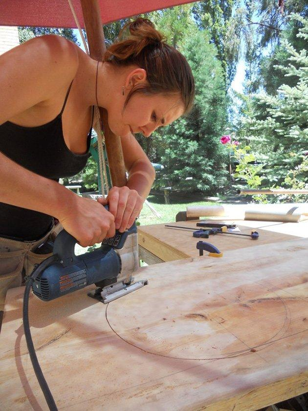 """I'd never built anything, ever. I didn't know how to use a saw. So it was intimidating,"" she admits. But it also allowed her the freedom to have final control over the interior design, altering room and storage placements to precisely fit her own needs."