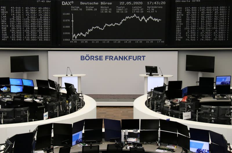 German sentiment survey boosts stocks, Europe focuses on recovery fund