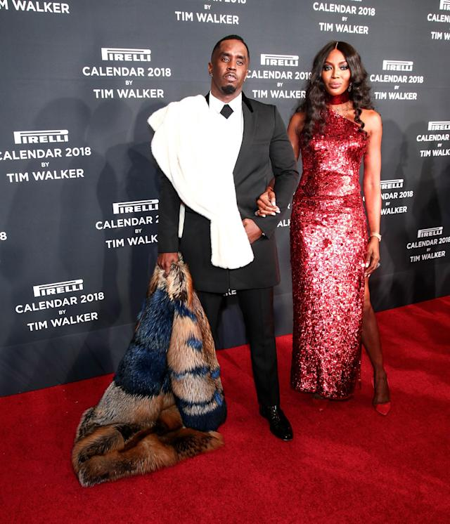 Naomi Campbell and Sean Combs arrive at the Manhattan Center on Nov. 10 in New York City. (Photo: Getty Images)