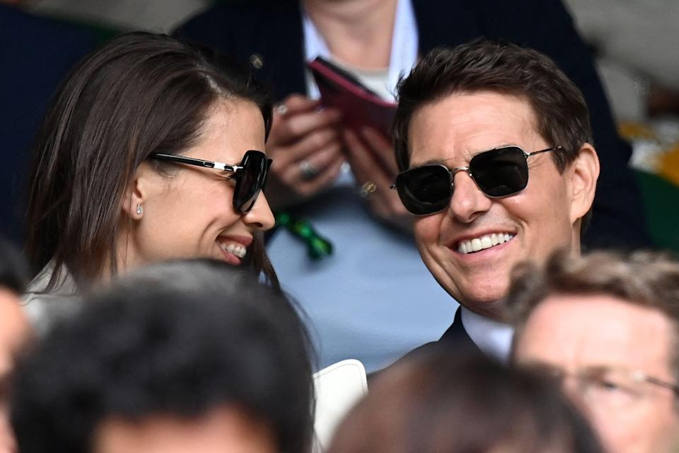"""""""Mission: Impossible 7"""" co-stars Hayley Atwell and Tom Cruise turned up together at Wimbledon."""