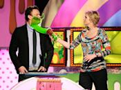 <p>Would love to know what Jason Segel did to deserve this from Jane Lynch.</p>