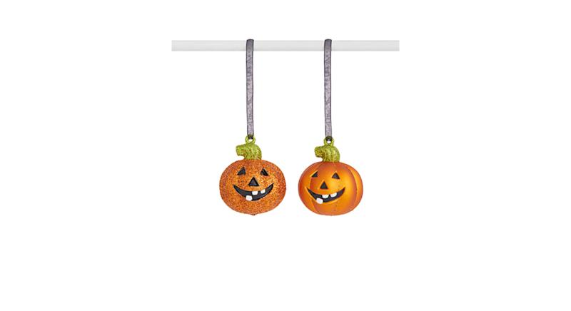 John Lewis & Partners Halloween Pumpkin Glitter Hanging Decoration
